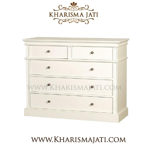 lily chest 5 drawer, kharismajati indonesia furniture manufacture