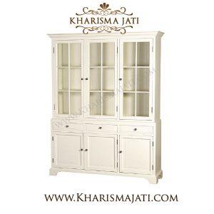LILY DISPLAY CABINET 3 DOOR, Kharisma Jati