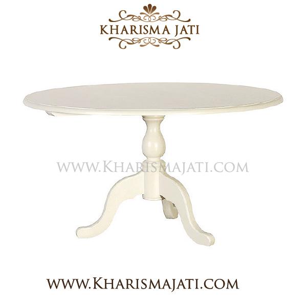 LILY DINNING TABLE ROUND, KHARISMA JATI