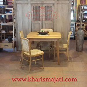 calcin dinning table, kharisma Jati