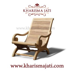 maria lazy chair, kharisma jati furniture