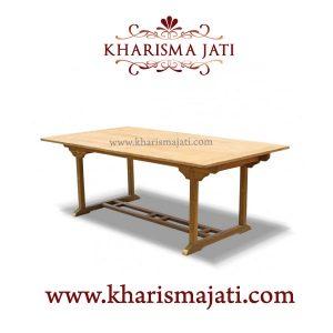 Borneo double extended table, kharisma jati