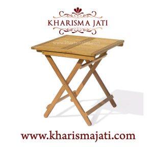 sesena folding table 90, kharisma jati