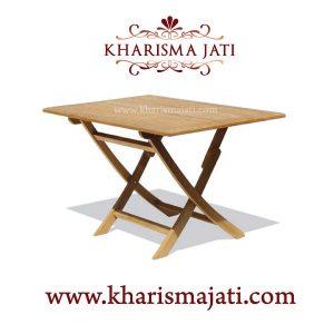 folding table square 90, kharisma jati