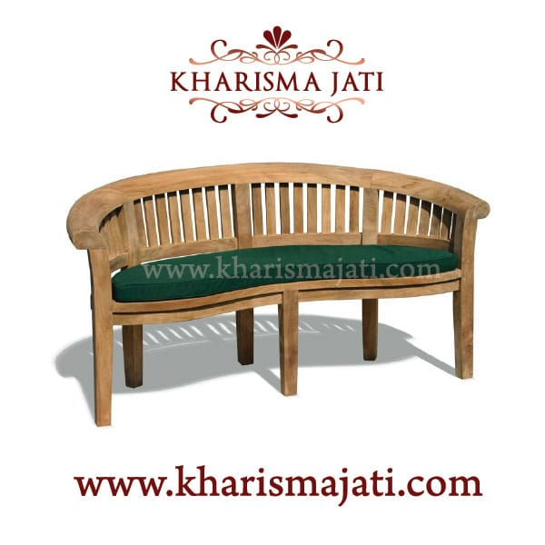 banana bench deluxe 150, kharisma jati furniture