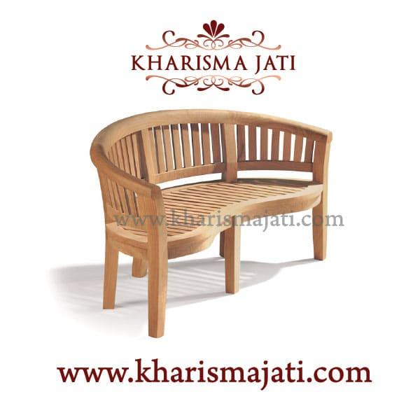 banana bench standarad, kharisma jati furniture