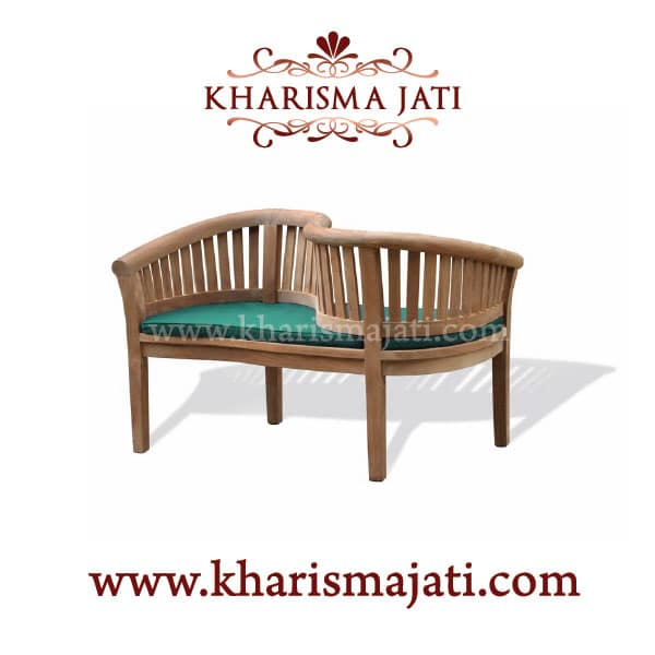 banana love bench, kharisma jati furniture