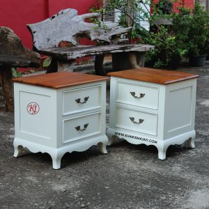 MILKY NIGHT STAND, kharisma jati furniture, furniture manufacture and wholesale