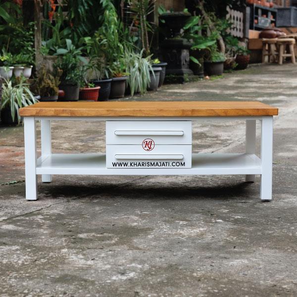 milky coffee table, kharisma jati furniture. furniture manufacture and wholesale