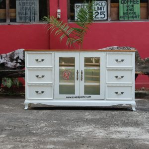 milky dresser, kharisma jati furniture