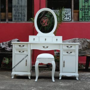milky dressing table, kharismajati furniture manufacture