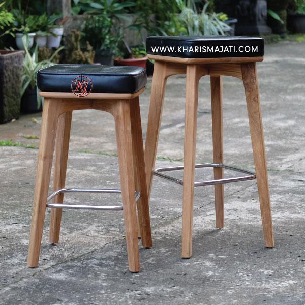james leather bar chair, kharismajati, indonesian furniture manufacture